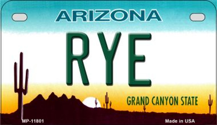 Arizona Rye Novelty Metal Motorcycle Plate MP-11801