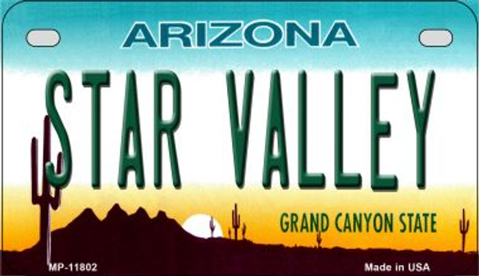 Arizona Star Valley Novelty Metal Motorcycle Plate MP-11802