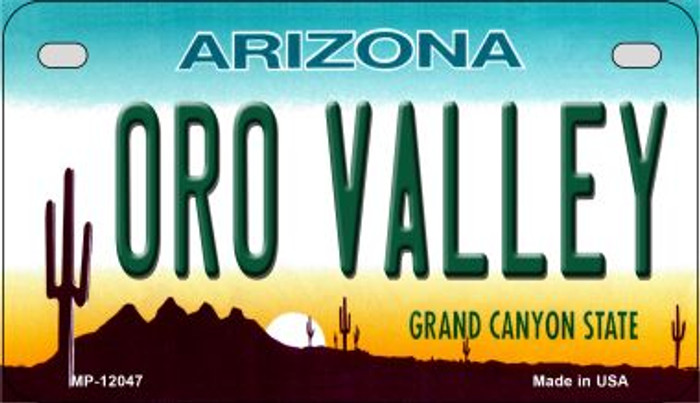 Arizona Oro Valley Novelty Metal Motorcycle Plate MP-12047