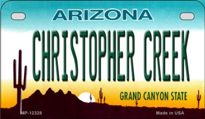 Arizona Christopher Creek Novelty Metal Motorcycle Plate MP-12328