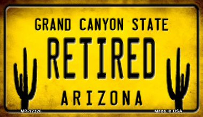 Arizona Retired Novelty Metal Motorcycle Plate MP-12326