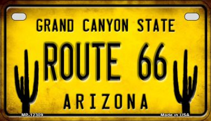 Arizona Route 66 Novelty Metal Motorcycle Plate MP-12309