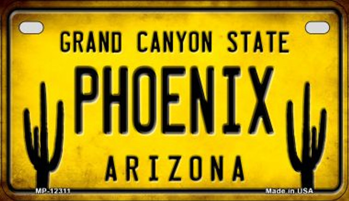 Arizona Phoenix Novelty Metal Motorcycle Plate MP-12311