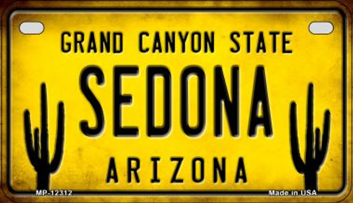 Arizona Sedona Novelty Metal Motorcycle Plate MP-12312