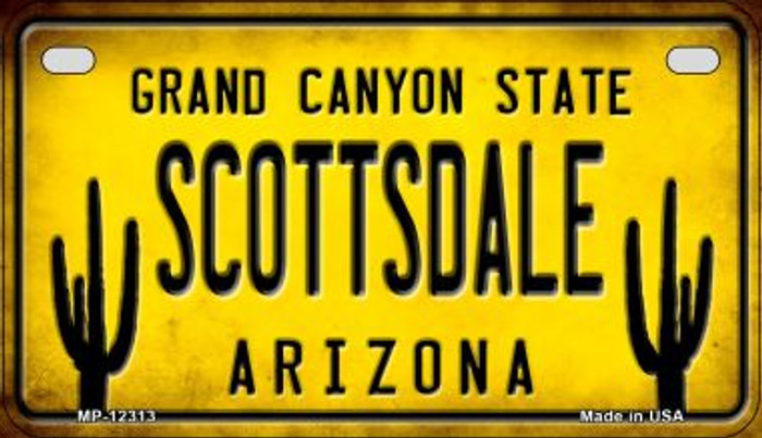 Arizona Scottsdale Novelty Metal Motorcycle Plate MP-12313