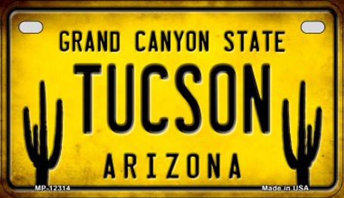 Arizona Tucson Novelty Metal Motorcycle Plate MP-12314