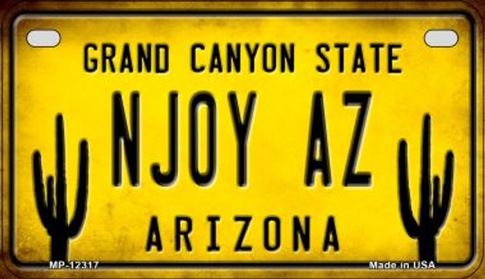 Arizona NJOY AZ Novelty Metal Motorcycle Plate MP-12317