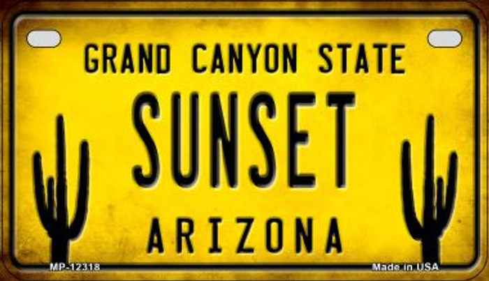 Arizona Sunset Novelty Metal Motorcycle Plate MP-12318