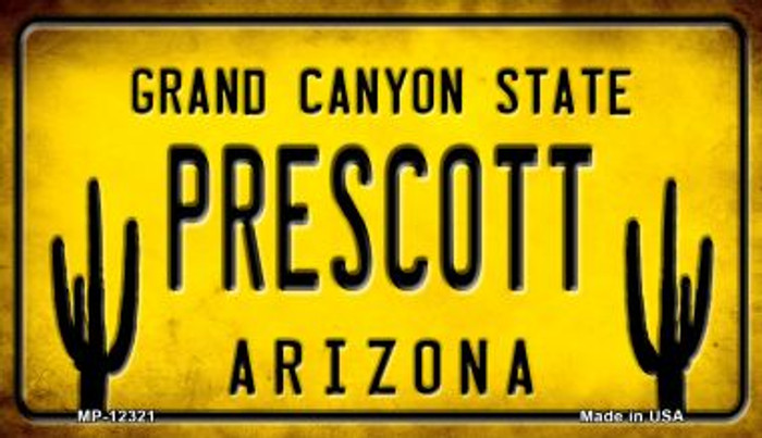Arizona Prescott Novelty Metal Motorcycle Plate MP-12321