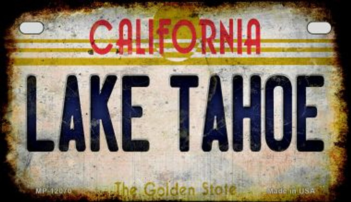 California Lake Tahoe Novelty Metal Motorcycle Plate MP-12070