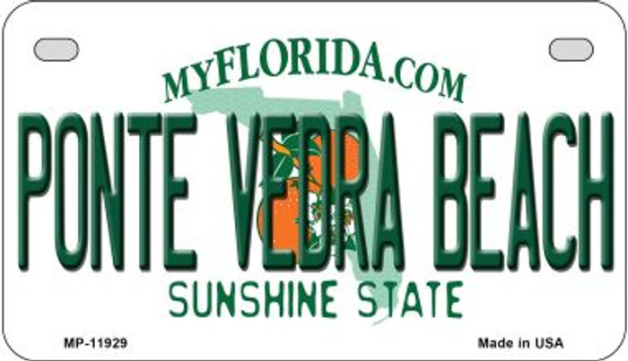 Florida Ponte Vedra Beach Novelty Metal Motorcycle Plate MP-11929