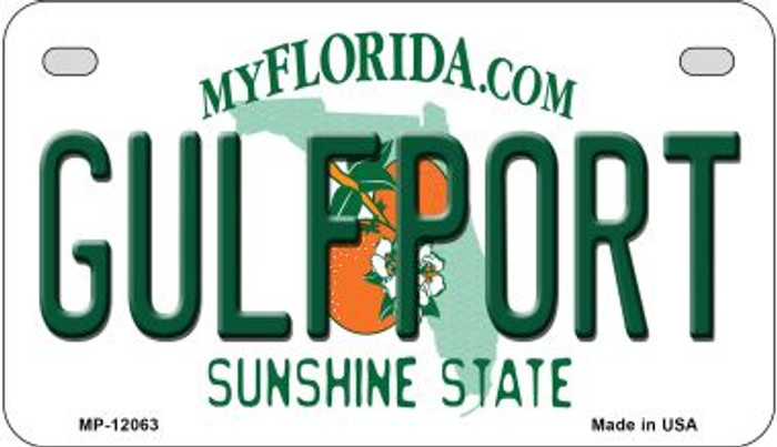 Florida Gulfport Novelty Metal Motorcycle Plate MP-12063
