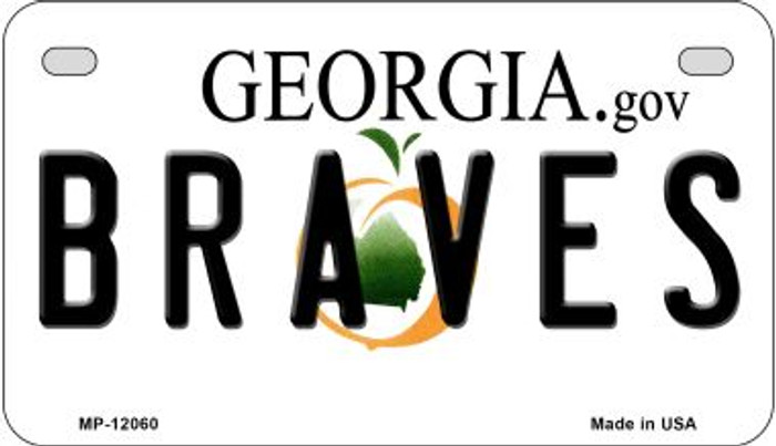 Georgia Braves Novelty Metal Motorcycle Plate MP-12060