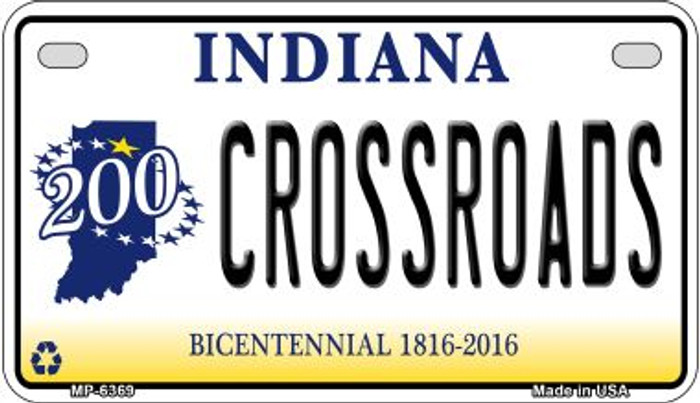 Indiana Crossroads Novelty Metal Motorcycle Plate MP-6369