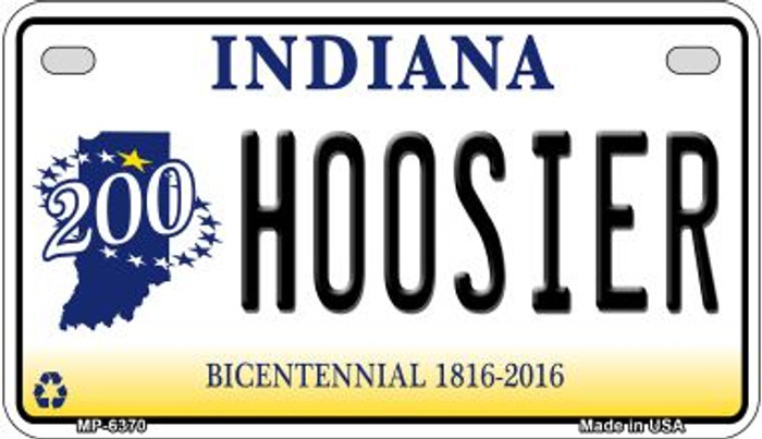 Indiana Hoosier Novelty Metal Motorcycle Plate MP-6370