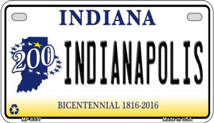Indiana Indianapolis Novelty Metal Motorcycle Plate MP-6377