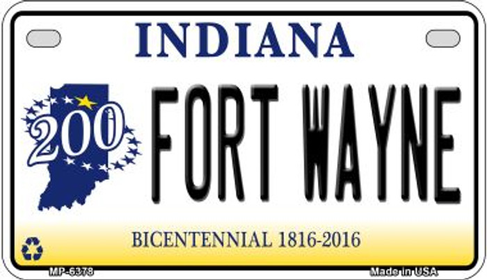 Indiana Fort Wayne Novelty Metal Motorcycle Plate MP-6378