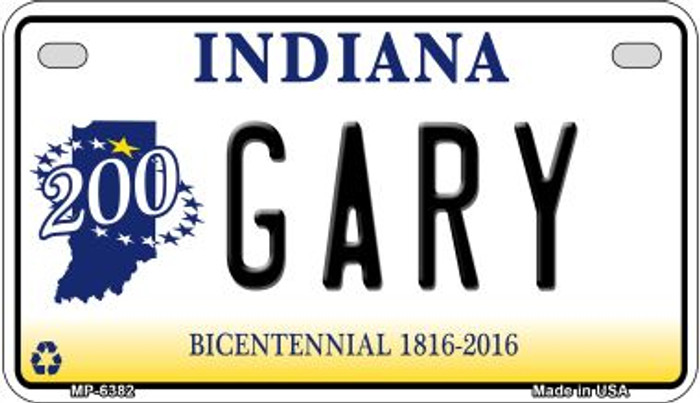Indiana Gary Novelty Metal Motorcycle Plate MP-6382