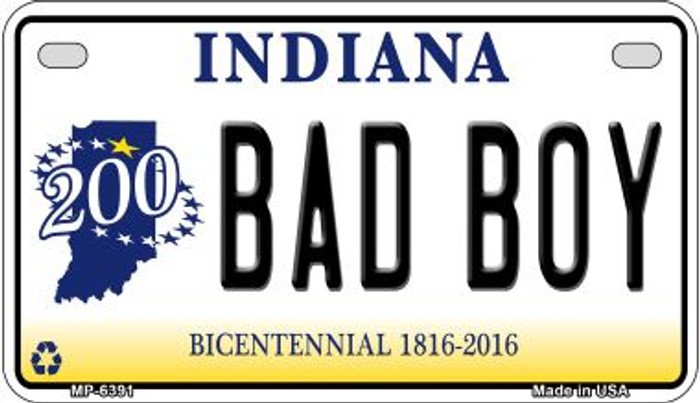 Indiana Bad Boy Novelty Metal Motorcycle Plate MP-6391