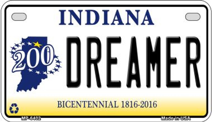 Indiana Dreamer Novelty Metal Motorcycle Plate MP-6402
