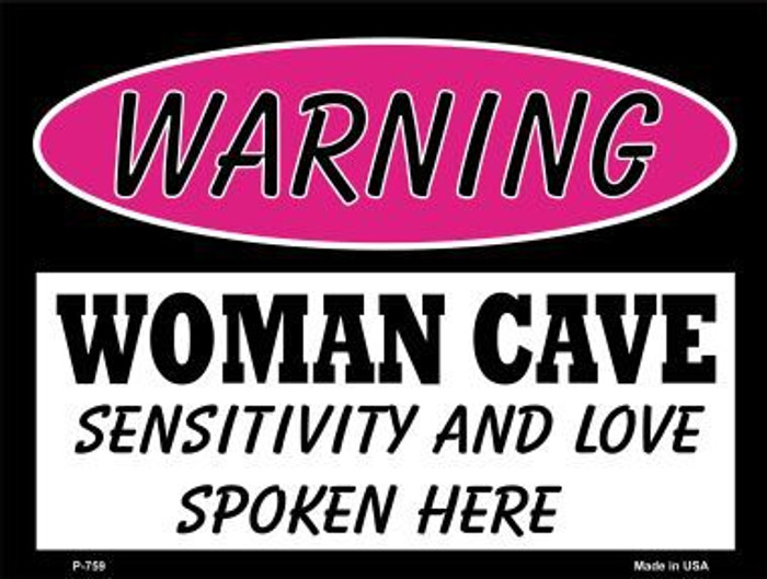 Sensitivity And Love Metal Novelty Parking Sign P-759
