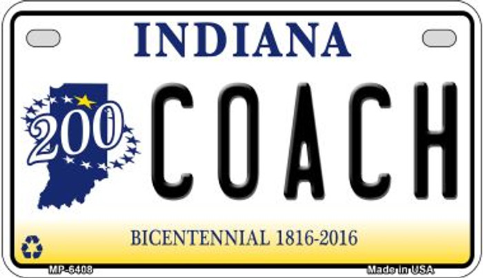Indiana Coach Novelty Metal Motorcycle Plate MP-6408