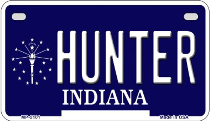 Indiana Hunter Novelty Metal Motorcycle Plate MP-5101