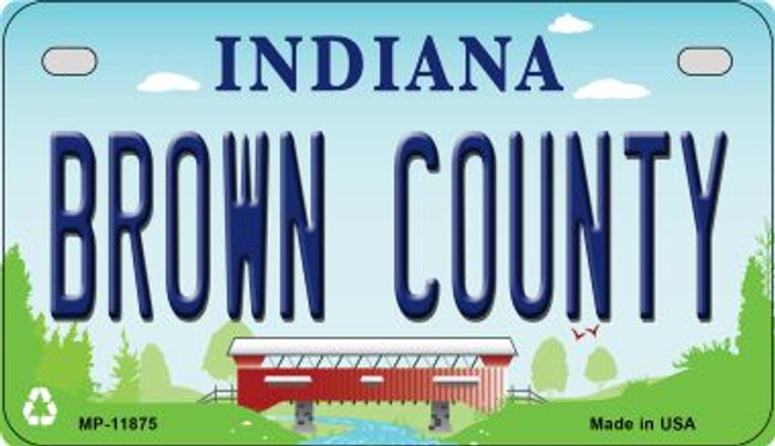 Indiana Brown County Novelty Metal Motorcycle Plate MP-11875