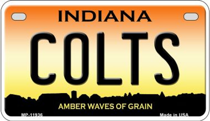 Indiana Colts Novelty Metal Motorcycle Plate MP-11936