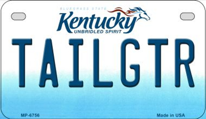 Kentucky Tailgtr Novelty Metal Motorcycle Plate MP-6756