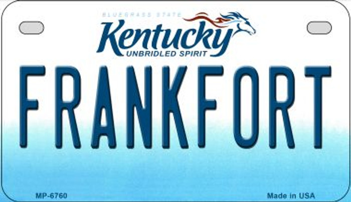 Kentucky Frankfort Novelty Metal Motorcycle Plate MP-6760