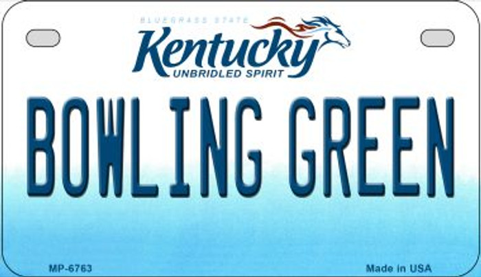 Kentucky Bowling Green Novelty Metal Motorcycle Plate MP-6763