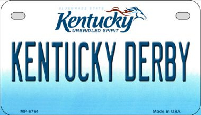 Kentucky Derby Novelty Metal Motorcycle Plate MP-6764