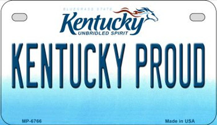 Kentucky Proud Novelty Metal Motorcycle Plate MP-6766