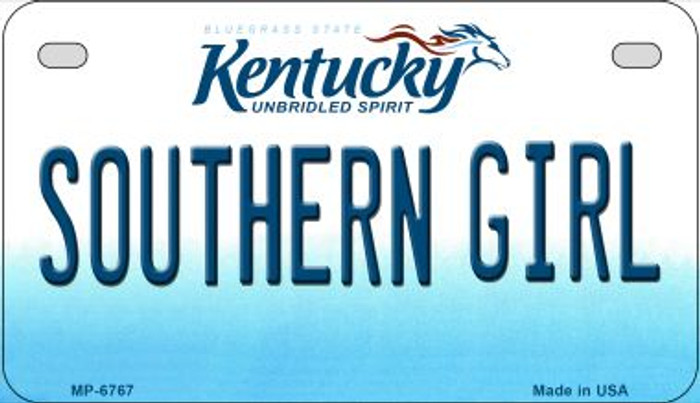 Kentucky Southern Girl Novelty Metal Motorcycle Plate MP-6767