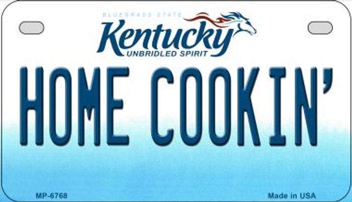 Kentucky Home Cookin Novelty Metal Motorcycle Plate MP-6768