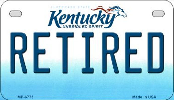 Kentucky Retired Novelty Metal Motorcycle Plate MP-6773