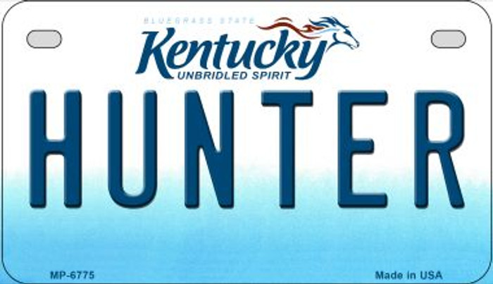 Kentucky Hunter Novelty Metal Motorcycle Plate MP-6775