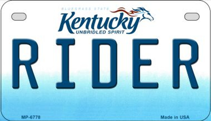 Kentucky Rider Novelty Metal Motorcycle Plate MP-6778