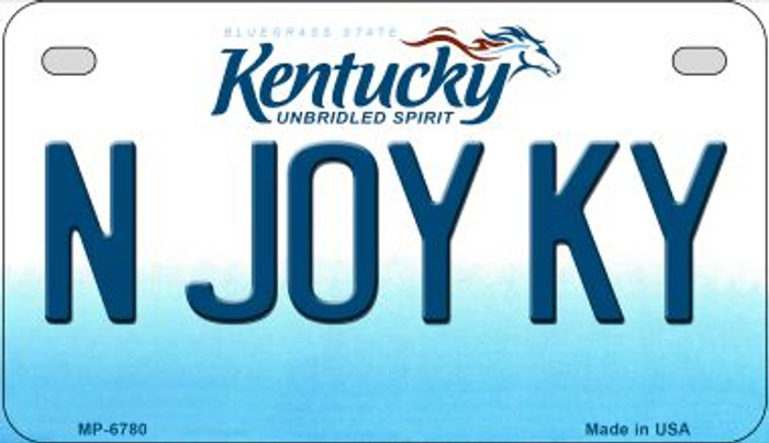 Kentucky N Joy KY Novelty Metal Motorcycle Plate MP-6780