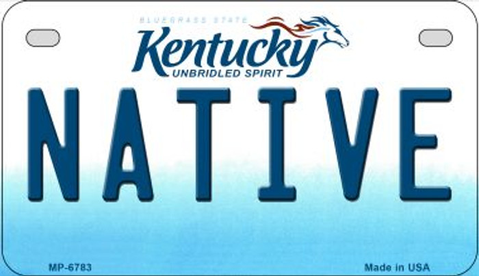 Kentucky Native Novelty Metal Motorcycle Plate MP-6783