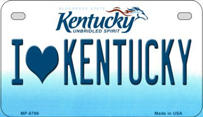 I Love Kentucky Novelty Metal Motorcycle Plate MP-6786