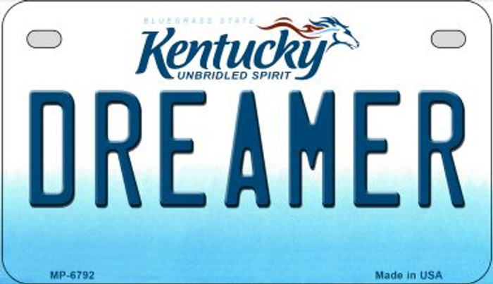 Kentucky Dreamer Novelty Metal Motorcycle Plate MP-6792