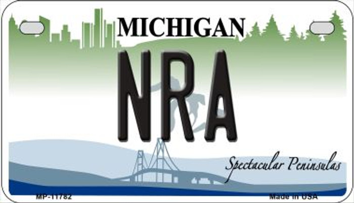 Michigan NRA Novelty Metal Motorcycle Plate MP-11782