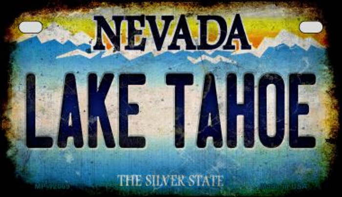 Nevada Lake Tahoe Novelty Metal Motorcycle Plate MP-12069