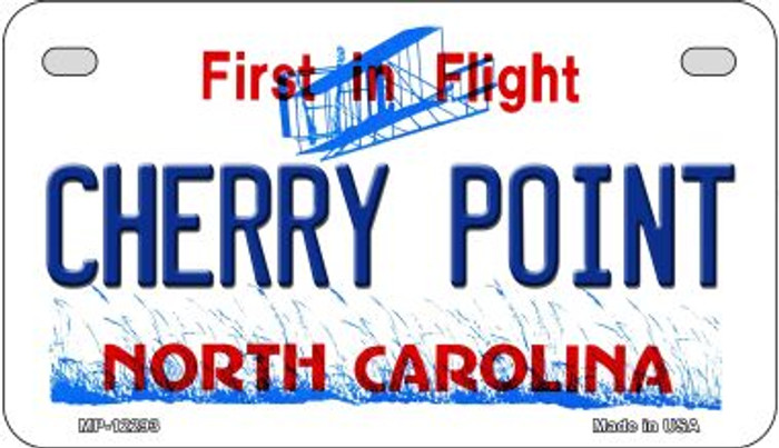 North Carolina Cherry Point Novelty Metal Motorcycle Plate MP-12293