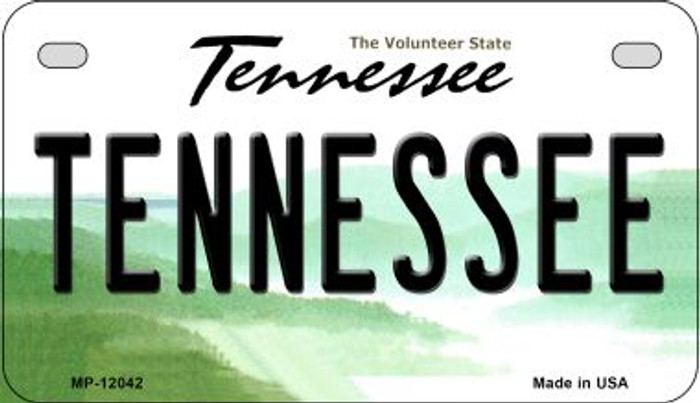 Tennessee Novelty Metal Motorcycle Plate MP-12042