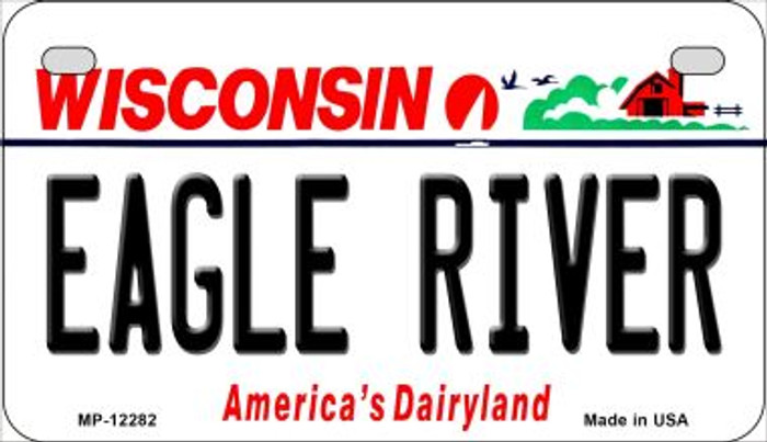Wisconsin Eagle River Novelty Metal Motorcycle Plate MP-12282