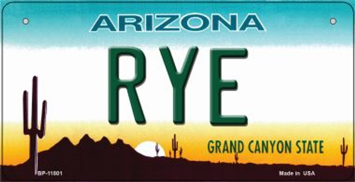 Arizona Rye Novelty Metal Bicycle Plate BP-11801