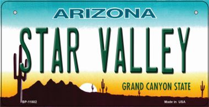 Arizona Star Valley Novelty Metal Bicycle Plate BP-11802